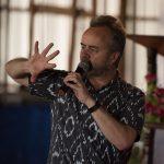 Dr Mike preaching in Kenya