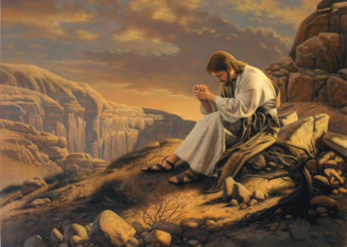 Jesus prepares in the wilderness