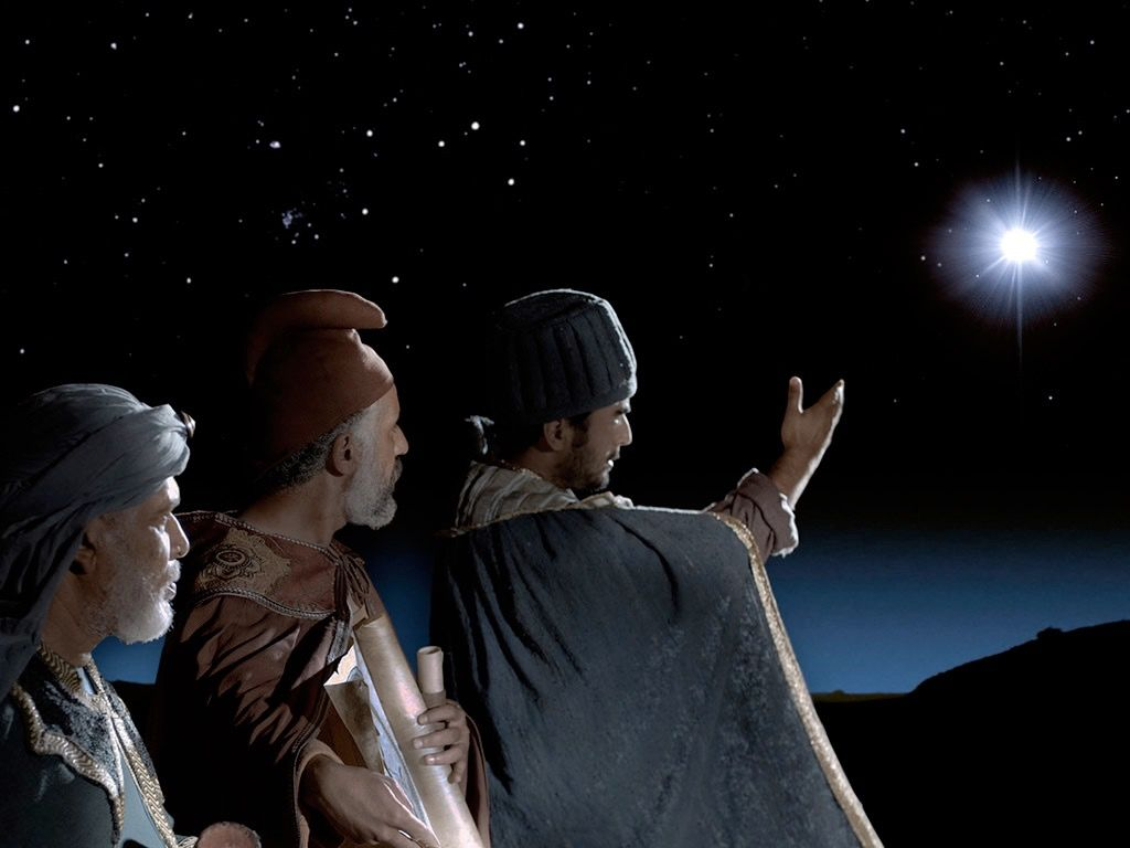 The wise men following the star