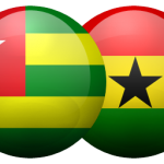 Togo and Ghana Flags